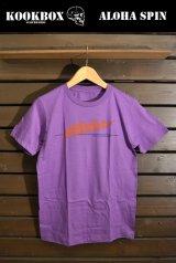【SPECIAL SALE!!-KOOK BOX 】ALOHA SPIN-Tシャツ (PURPLE/3サイズ)