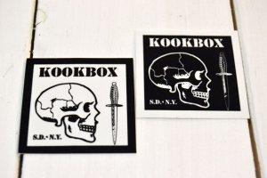 画像1: KOOKBOX スクエアー・スモールステッカー(2カラー)